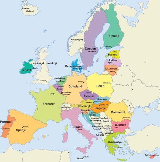 Europa als Kern Economische regio