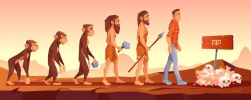 De uitstervende mens maakt plaats